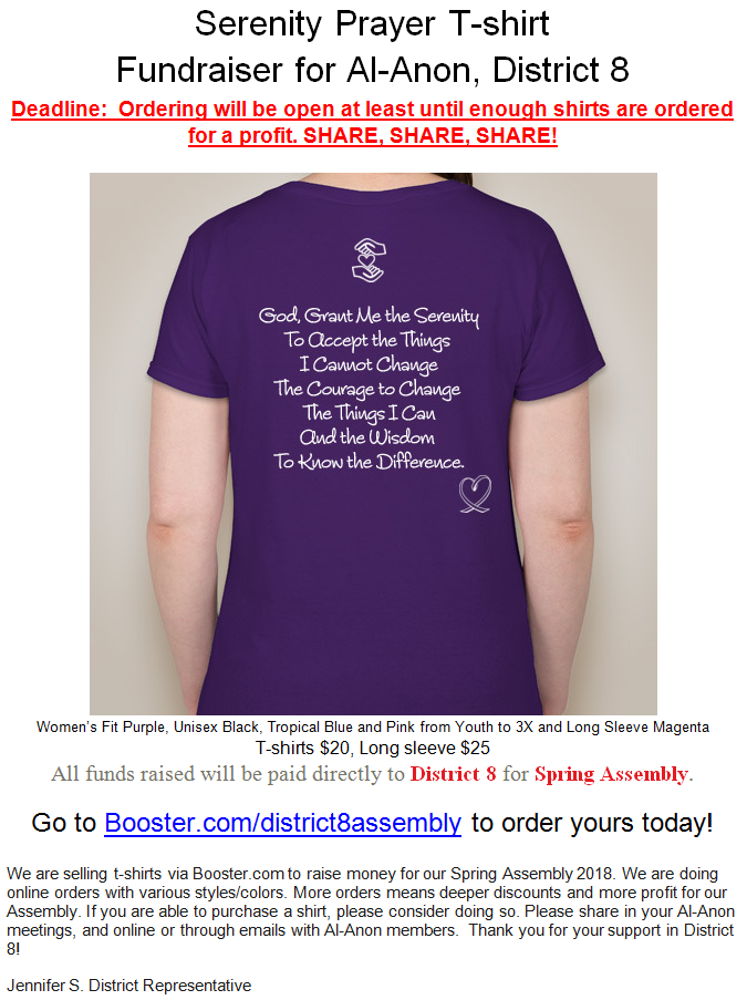 Area 53 serenity prayer t shirt fundraiser spring for T shirt fundraiser site